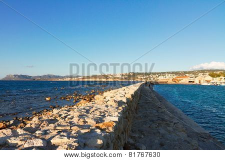 pier and coast fo Chania Crete, Greece