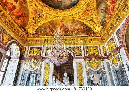 Versailles France - September 21 Interior Chateau,mirrored Ballroom Versailles, France On September