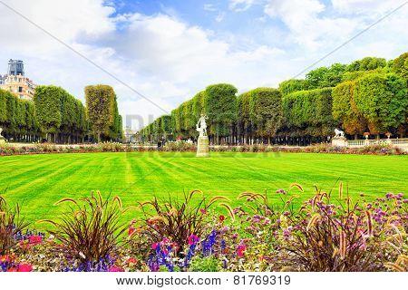 Luxembourg Garden(jardin Du Luxembourg)  In Paris, France