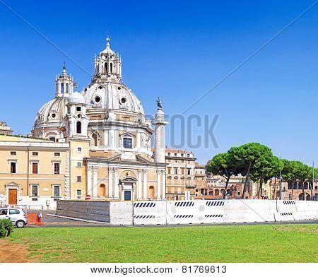 Santissimo Nome Di Maria Rome Church. Italy.