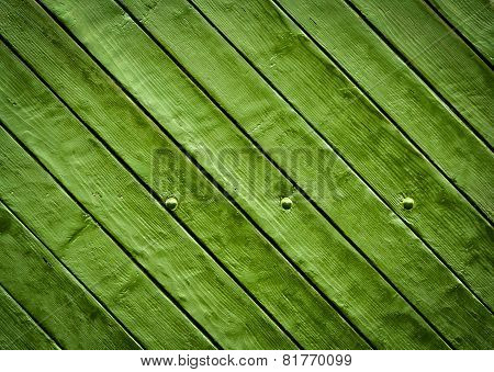 Green Wooden Slatted Board