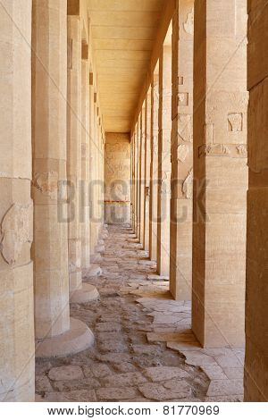 Pillars In Hatshepsut Temple At Luxor.