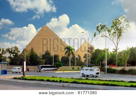 Great Pyramids ,suburb Of Cairo City.  Egypt.