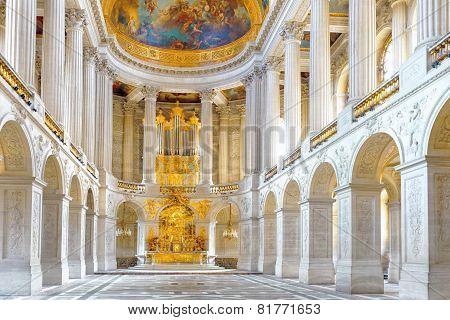 Versailles France - September 21  Famous Royal Chapel Inside Versailles, France On September 21, 201