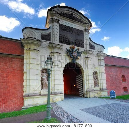 Main Entrance  Peter And Pavel Fortress , Saint Petersburg.