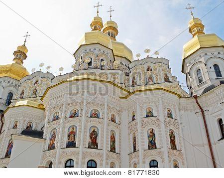 Dormition Cathedral In Pechersk Lavra In Kiev.