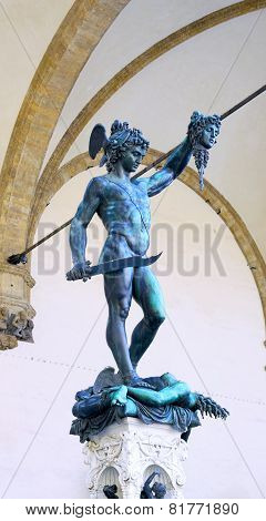 Statue Of Perseus Slaying Medusa. Florence