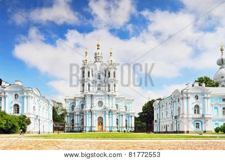 St. Petersburg. Smolny Cathedral (church Of The Resurrection)