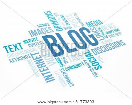 Blog Concept Cloud Chart Print Document.