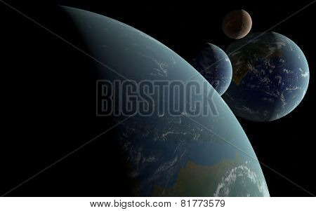 3D Earth Like Planets
