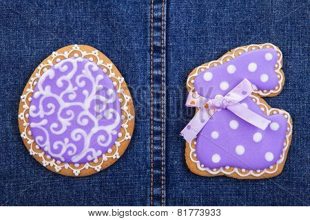 Easter traditional Gingerbread cookies backgroung