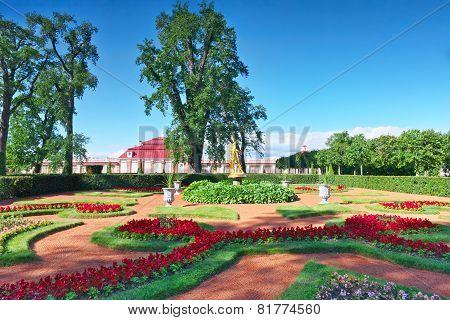 Garden Of Monplaisir Palace. Peterhof.