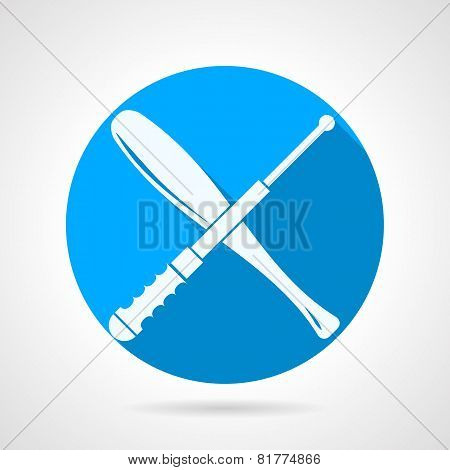 Batons flat vector icon