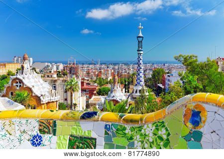 Park Guel. Barcelona