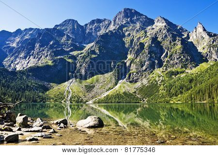 Peaks Above The Valley Sea Eye. The Polish Tatras