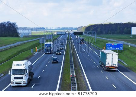Polish A4 Motorway Near Gliwice