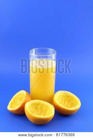 Orange Juice With Squeeze Slice.