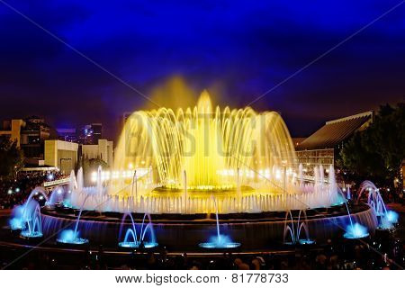 Montjuic Fountain in Barcelona.
