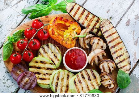 grilled vegetables eggplant zucchini mushrooms pepper tomato