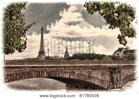 Eiffel Tower -view From Embankment Of The River Seine.paris? Fr