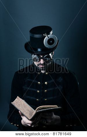 Steam Punk Man Reading