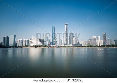 Guangzhou Skyline In Daytime