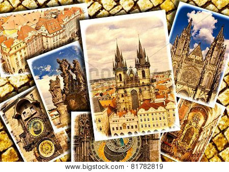 Collage Of Beautiful Prague.