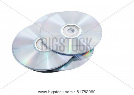 Pile Of Dvd(cd) Discs.