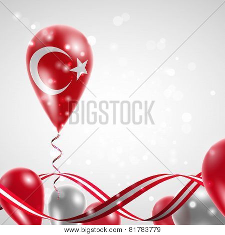 Flag of Turkey on balloon