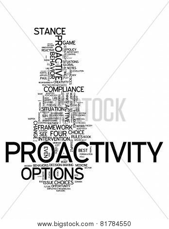 Word Cloud Proactivity