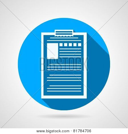 Clipboard with questionnaire vector icon