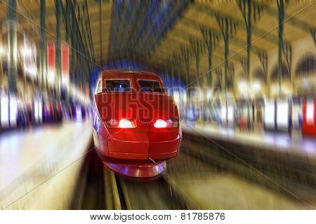 Modern Fast Passenger Train.