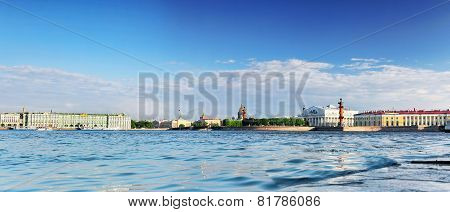 View Of Saint Petersburg From Neva River. Russia