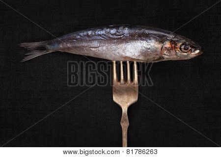 Fish On Fork.