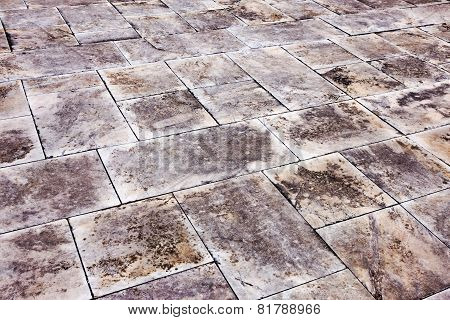 Gloomy Textured Background Dirty Marble Tile Street