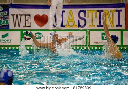 MILAN - JANUARY 30: M. Luongo in game BPM Sport Management - Como Nuoto on January 30, 2015 Milan (I