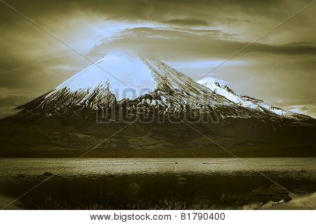 Parinacota Volcano in Northern Chile
