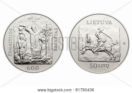 commemorative circulation 50 litas coin