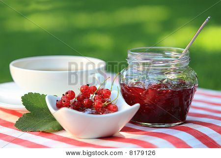 Red Currant Jam And Tea