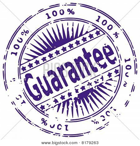 Rubber ink stamp - GUARANTEE