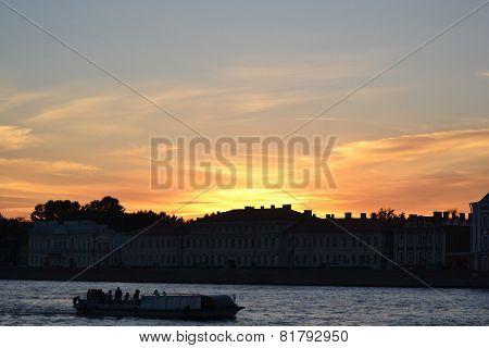 Sunset Over The University Embankment.
