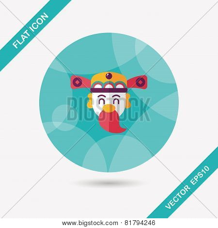 Chinese New Year Flat Icon With Long Shadow,eps10, God Of Wealth