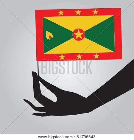 Hand With Flag Grenada