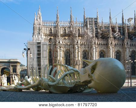 Cathedral Duomo  In Milan. Italy