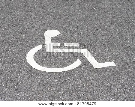 Place For Invalid Persons Near Mart.