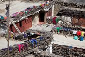 picture of mustang  - Rooftop view over Marpa village Mustang Nepal - JPG