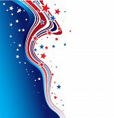 pic of patriot  - Vector illustration Independence Day patriotic background star pattern - JPG