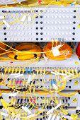 pic of telecommunications equipment  - Telecommunication equipment in a big datacenter - JPG