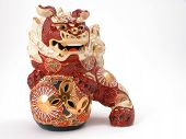 stock photo of nick-nack  - Beautiful detailed Asian dragon ornament - JPG