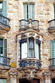 stock photo of gaudi barcelona  - Beautiful historical landscape of the urban view Barcelona Catalonia Spain - JPG